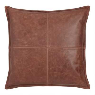 Brown Leather Kona Throw Pillow - World Market/Cost Plus