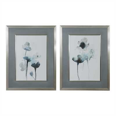 Midnight Blossoms Framed Prints, S/2 - Hudsonhill Foundry