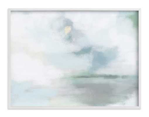Monday Blues - 40 x 30 - white wood frame - Minted