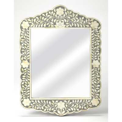 Escalante Botanic Bone Inlay Traditional Beveled Accent Mirror - Wayfair