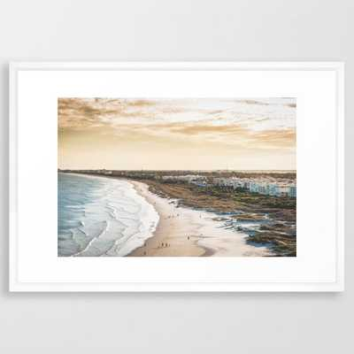 Colorful, Coastal, Airial Beach Sunset Photography, Cali Boho - Vector  white - Society6