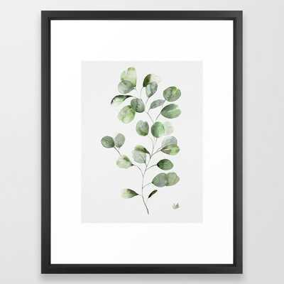 Watercolor Eucalyptus Framed Art Print - Society6