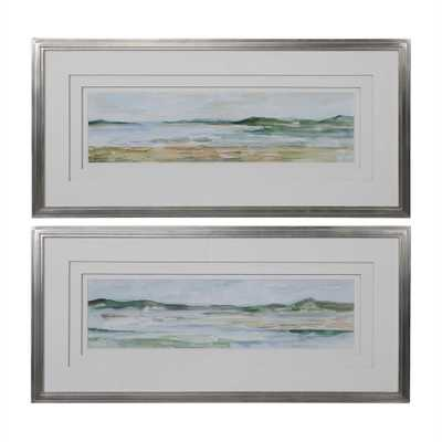 PANORAMIC SEASCAPE FRAMED PRINTS, S/2 - Hudsonhill Foundry