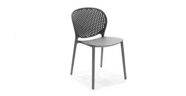 Dot Graphite Dining Chair- set of 2 - Article