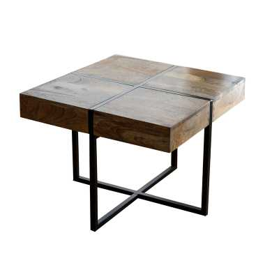 Crimmins Solid Wood Tray Top Cross Legs End Table - Wayfair