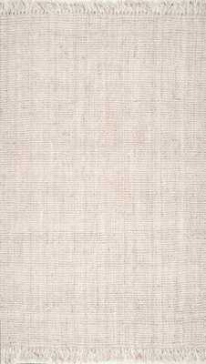 "Hand Woven Chunky Loop Jute Rug- off white - 7'6"" x 9'6"" - Loom 23"