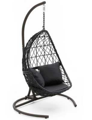 Belham Living Capeside Outdoor Wicker Hanging Egg Chair (WITH STAND) - Hayneedle