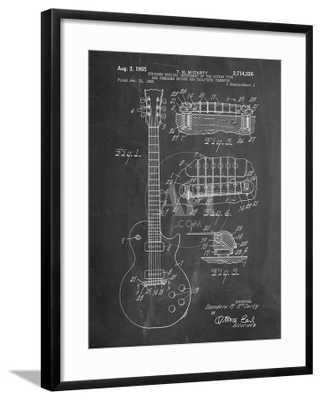 Gibson Les Paul Guitar Patent - art.com