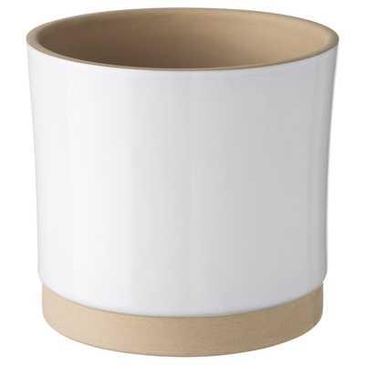 """UPPVAKTA Plant pot, white, natural, 4 ¾ """" - Ikea"""