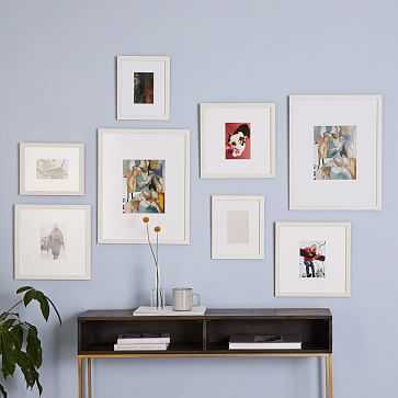 Gallery Frames, White, Set of 8 - West Elm