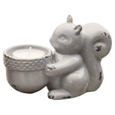 Squirrel Small Ceramic Tealight Holder - Wayfair