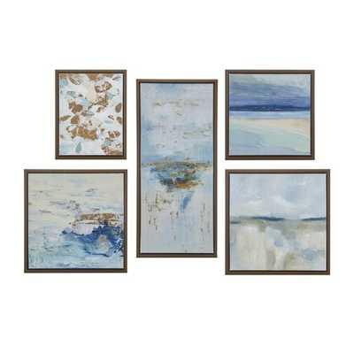 Blue Horizon Gallery Art 5 Piece Set with Bronze Frame - Wayfair