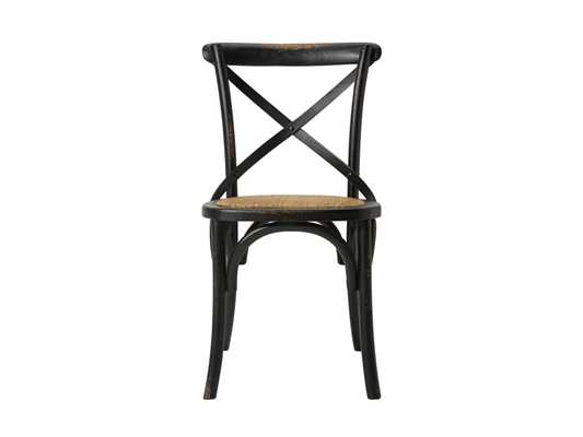 cadence dining chair with wooden stretchers - Arhaus