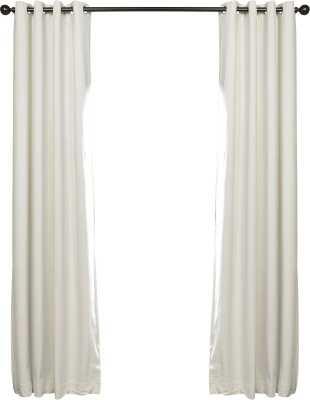 "Sharpe Solid Blackout Grommet Single Curtain Panel, Off-White, 84"" L - Wayfair"