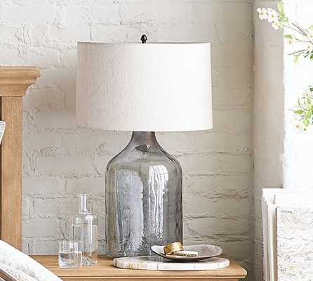 Alana Glass Jug Table Lamp - Indigo - Pottery Barn