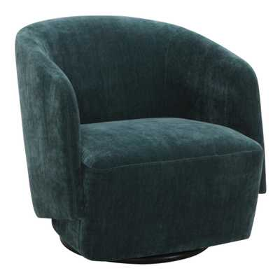 Teal Green Sophie Upholstered Swivel Chair - World Market/Cost Plus