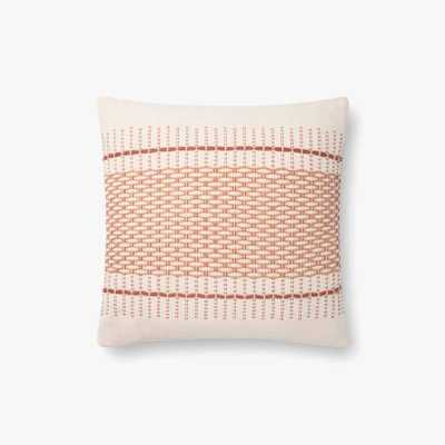 "Magnolia Home by Joanna Gaines PILLOWS P1138 BLUSH/MULTI 18"" x 18"" Cover w/Poly - Loma Threads"
