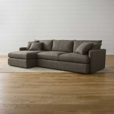 Lounge II 2-Piece Sectional Sofa - Crate and Barrel