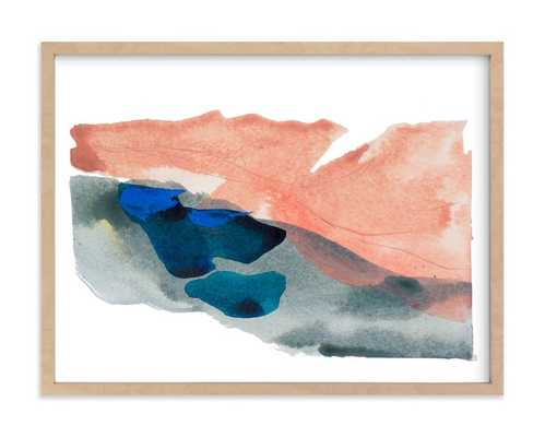 Morning River  - Natural Raw Wood Frame - Minted