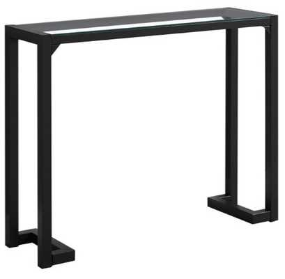 Monarch Specialties Tempered Glass Top Rectangular Console Table - Hayneedle