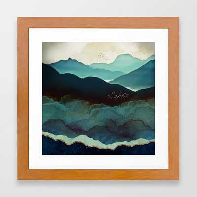 Indigo Mountains Framed Art Print - Society6