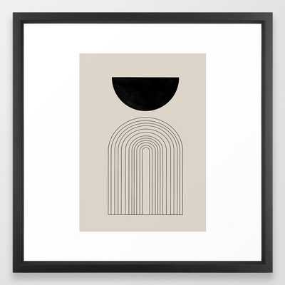 Arch, geometric modern art Framed Art Print - Society6