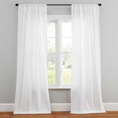 "Design Crew Basics Curtains, Set Of 2, 84"", White - Pottery Barn Teen"