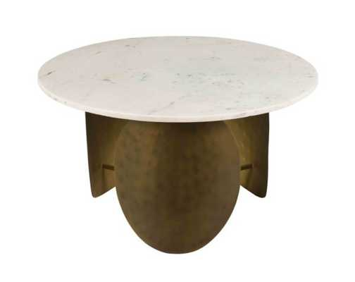 Elise WHITE MARBLE COCKTAIL TABLE - Maren Home