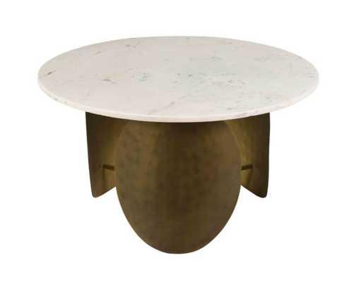 Celeste White Marble Cocktail Table - Maren Home