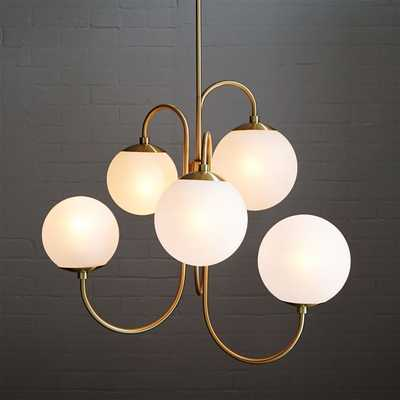 Pelle Chandelier, Gooseneck, Antique Brass/Clear - West Elm