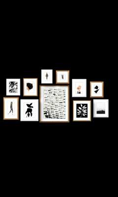 Shorthills black and white Gallery Wall - Artfully Walls