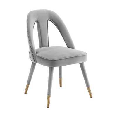 Charlee Light Morgan Velvet Side Chair - Maren Home
