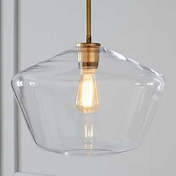Sculptural Glass Shade, Large Geo, Clear - West Elm