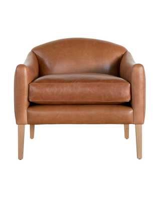LINDER LEATHER ARM CHAIR - COGNAC - McGee & Co.