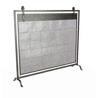 Single Panel Iron Fireplace Screen - Wayfair