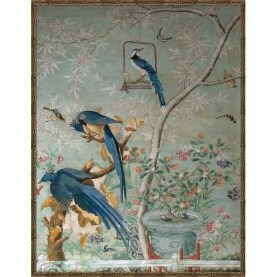Chinoiserie Collage - Picture Frame Painting Print on Paper - Perigold