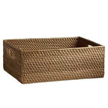 Modern Weave, Underbed Basket, Natural, Without Handles - West Elm