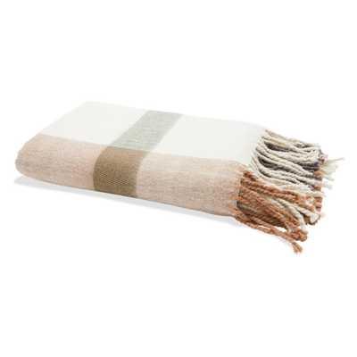 Belham Living Wool Raised Plaid Decorative Throw - Hayneedle