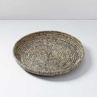 """All Across Africa Tray, Natural and Black, Multi Woven, 16.5 All Across Africa Tray, Natural and Black, Multi Woven, 16.5"""" Diameter - West Elm"""