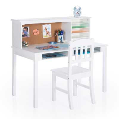 Glaser Kids Writing Desk and Chair Set with Kids Hutch - Wayfair