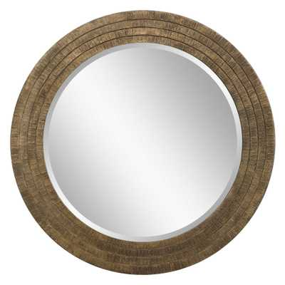 Relic Aged Gold Round Mirror - Hudsonhill Foundry