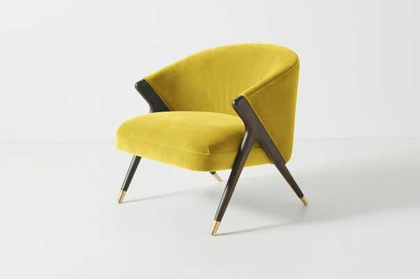 Monroe Accent Chair Valencia Velvet in Key Lime - Anthropologie