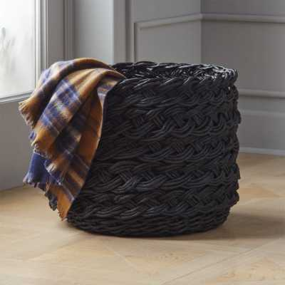 Black Braided Basket - CB2