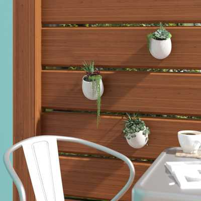 Earleton 3-Piece Ceramic Wall Planter Set - Wayfair