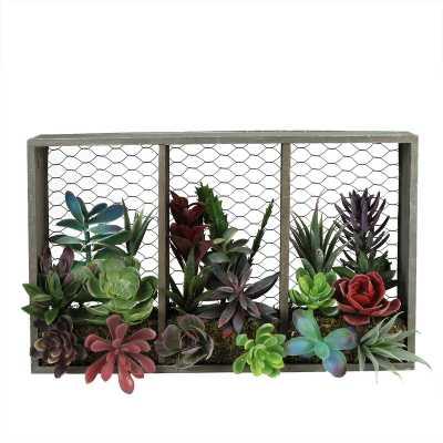 Artificial Hanging Succulents Arrangement in Planter - Wayfair