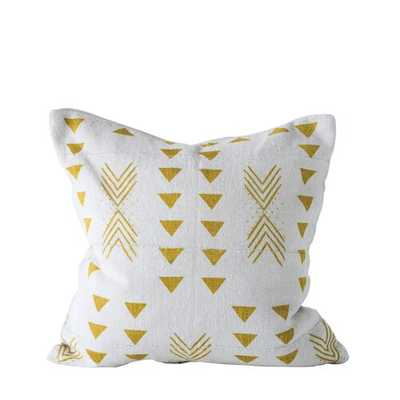 Alves African Mudcloth Patterned Cotton Throw Pillow - AllModern