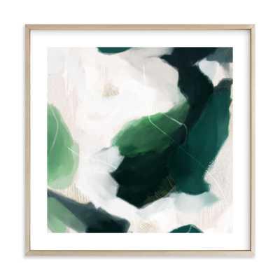 oja framed - 24x24 with white border - Matte Brass Frame - Minted