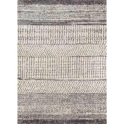 Danny Geometric Gray/Ivory Area Rug - Wayfair