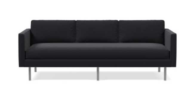 "Axel 89"" Sofa, Perf Velvet, Perfmormance Vlevet Shadow - West Elm"
