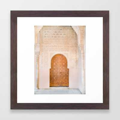Alhambra door | Granada Spain travel photography | Bright and pastel colored photo art print Framed Art Print - Society6
